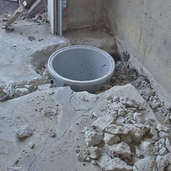 Placing a sump pit in a West Henrietta home