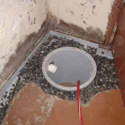 Installing a sump in a sump pump liner in a Pittsford home