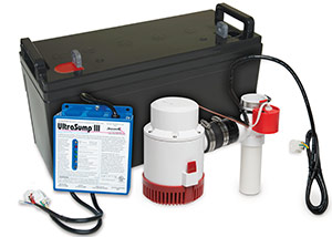 a battery backup sump pump system in Kent