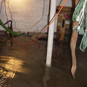 Foundation flooding in a Newark,New York home